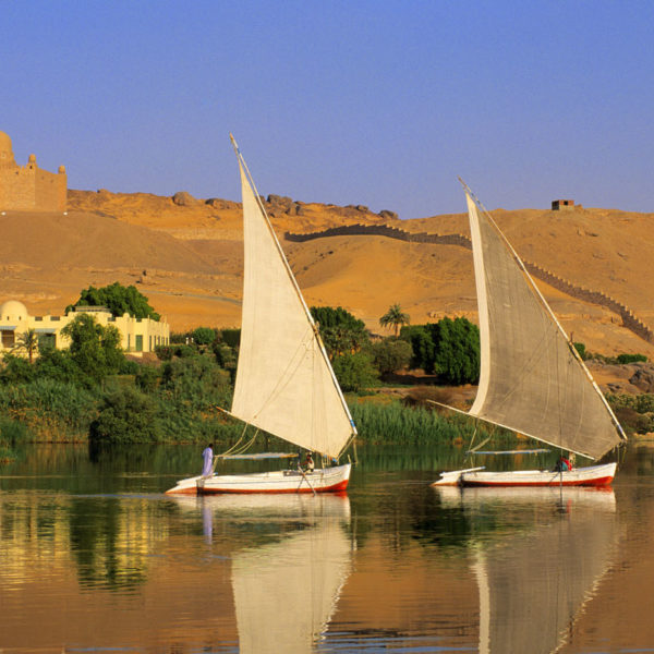 Feluccas on the River Nile