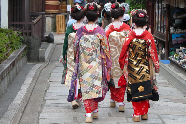 Traditional garb In Kyoto