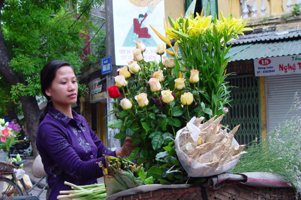 A flower seller In Hanoi
