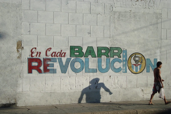 'Cuba The Revolution Continues' mural in Havana