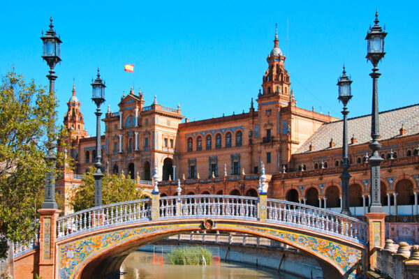 A bridge in beautiful Seville centre