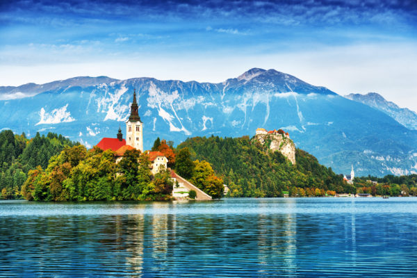 Santa Maria Church on Lake Bled, Slovenia