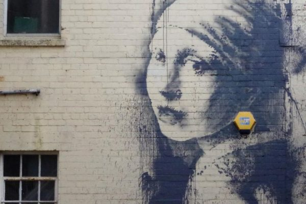 Banksy,  Girl With The Pierced Eardrum, Bristol
