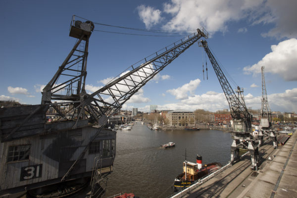 Cranes outside of the M Shed, Bristol, by Visit England