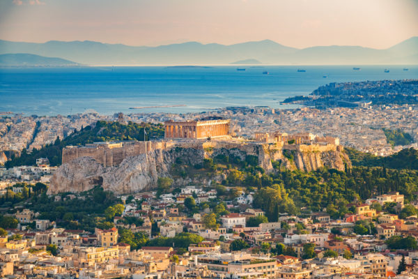 The ancient city of Athens
