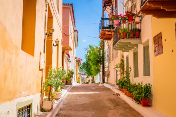The lovely streets of Nafplio