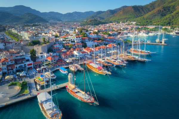 The beautiful Marmaris Harbour on the Turkish Riviera