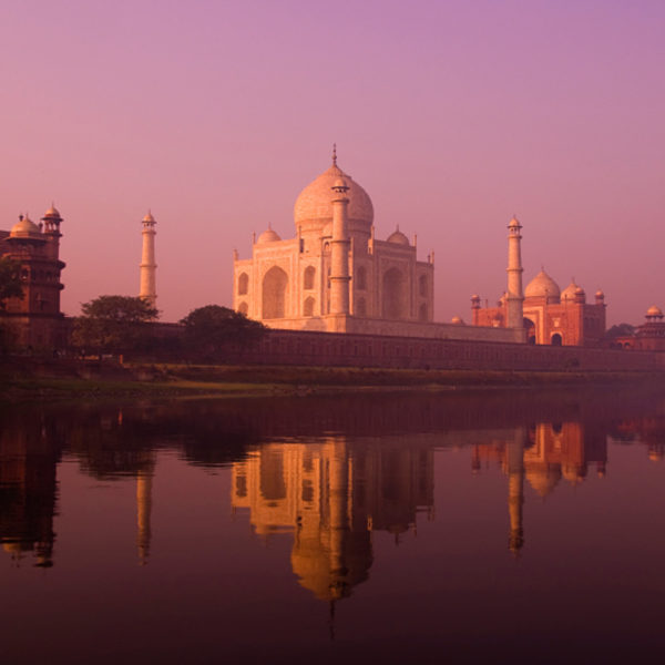 Visit the Taj Mahal at dawn