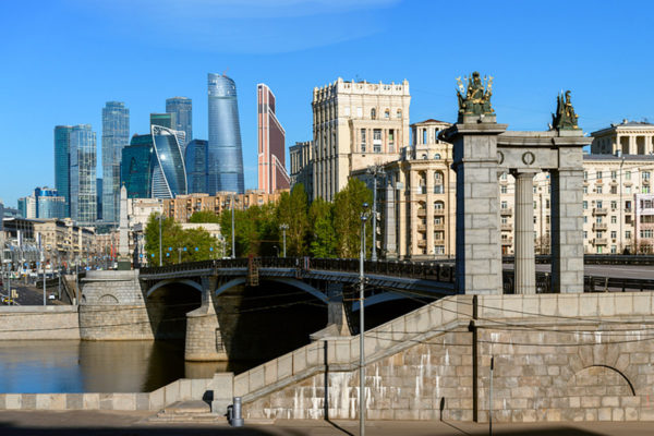 The modern city of Moscow