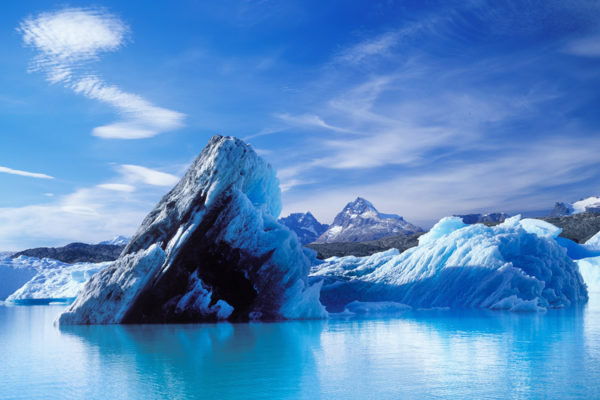 The Vivid Blue Of Upsala Glacier On The Patagonia Extension