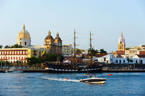 The old harbour area, Cartagena