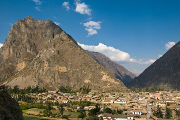 The Inca fortress town of Ollantaytambo