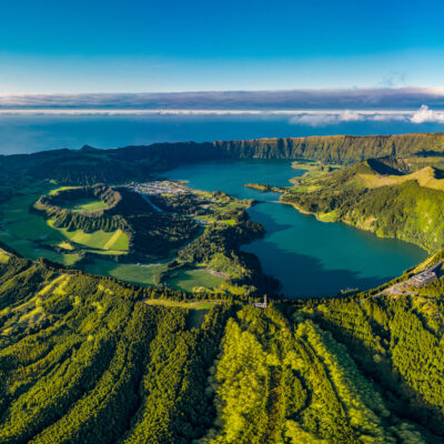 Magnificent view of the Sete Cidades in Sao Miguel,  Azores