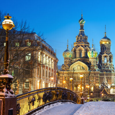 Church Of The Spilled Blood in winter