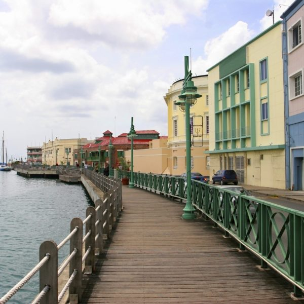 The promenade in Bridgetown, Barbados