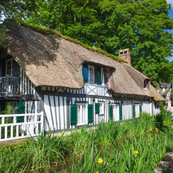 Visit the lovely village of Veules Les Roses in Normandy