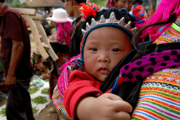 A Flower Hmong baby