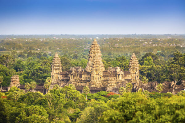 An aerial view of Angkor Was