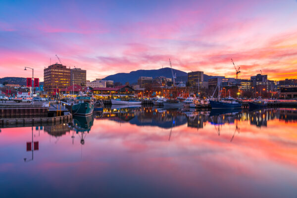 Hobart at sunset (photo Alastair Bett)