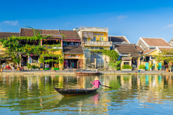 A view of Hoi An old town from the river