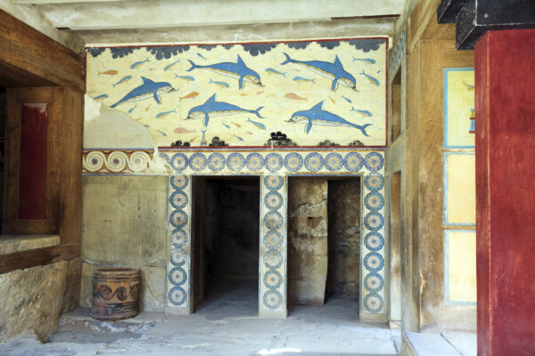 The ruins of Knossos Palace in Heraklion, Crete