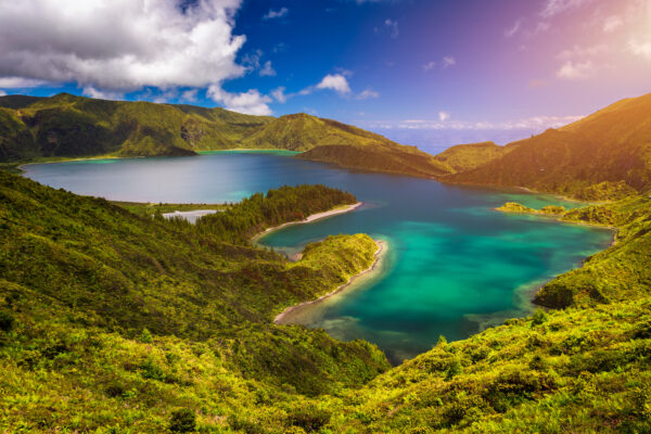 Lagoa Do Fogo Lake ('Lake of Fire') In Sao Miguel Island, Azores