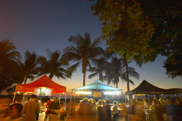 Have dinner and drinks at Mindil Beach Markets