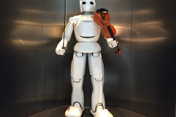 A violin-playing robot, Nagoya