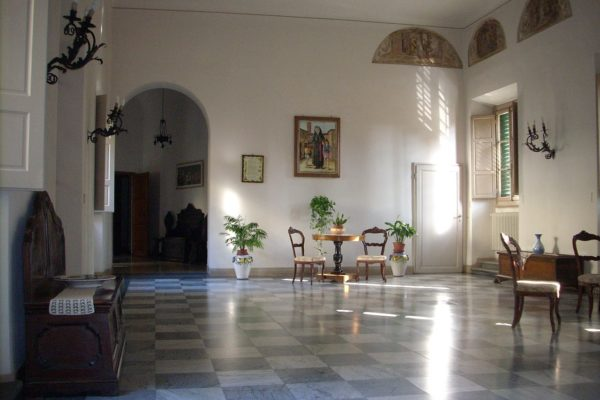 Inside, Villa Colombaia - the birthplace of Florence Nightingale