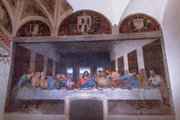 "See ""The Last Supper"" fresco by da Vinci"